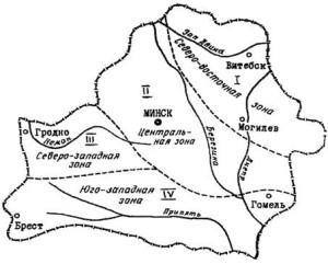 4 зоны пучинообразования в Белоруссии