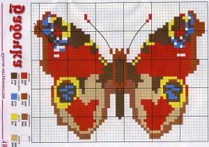 бабочка из металлической сетки